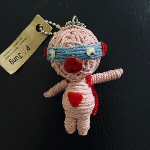 Watch over Voodoo Doll Keychain Good Luck
